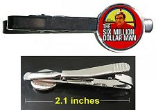The Six Million Dollar Man Steve Austin Tie Clip Clasp Bar Slide Silver Metal
