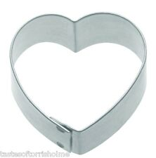 Kitchen Craft Small Plain Heart 5cm Biscuit, Pastry, Cookie Cutter
