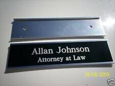 "Custom engraved 2"" X 8"" Wall Door Name plate w/holder."