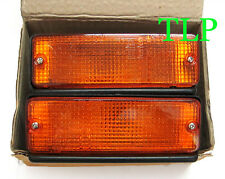 PAIR FRONT BUMPER SIGNAL LIGHTS ORANGE AMBER LENS TOYOTA COROLLA KE70 TE71 NEW