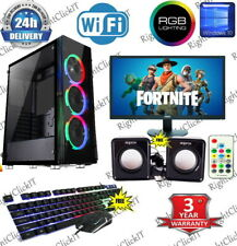 Fast Gaming PC Computer Bundle Intel Quad Core i7 16GB 1TB Win 10 GTX 1650