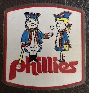 Vintage 1970s PHILADELPHIA PHILLIES PA Baseball MLB Old Car/Auto Window Sticker