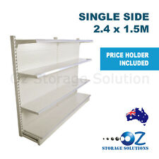 1.5m H x 2.4m W Single Sided Retail Gondola Supermarket Shelving Shop Display