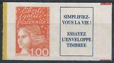 N°16a - Timbre Autoadhésif 1F + Vignette - Marianne Orange - 1997