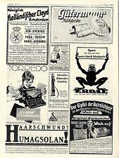 Kgl. holländischer Lloyd Amsterdam Gütermann Nähseide Erdal Histor.Annoncen 1921
