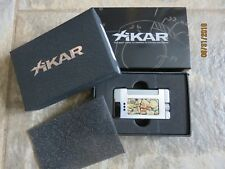 Brand New Xikar Versa Havana Black Label Torch Lighter Silver With Stylish Inlay