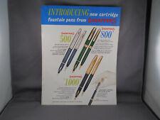 Sheaffer's Vintage Color l962 Catalog Sheet