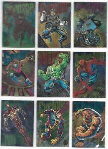 1994 Marvel Universe Power Blast 1-9 Set (1994, Fleer)