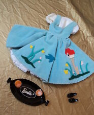 #979  VINTAGE 60'S  BARBIE FRIDAY  NIGHT DATE OUTFIT ONLY MISSING 1 STRAW NICE !