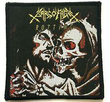 More details for sarcofago - rotting - woven patch rare thrash black speed metal aufnäher écusson