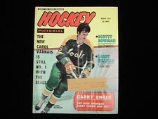 March 1972 Hockey Pictorial Magazine - Carl Vadnais Cover