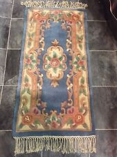 Lotus Premium Rugs blue Traditional Hand Carved Chinese Rugs and runners ACRYLIC