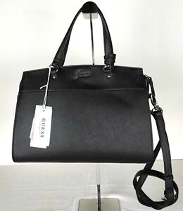 "BORSA CON TRACOLLA ""GUESS"" ORIGINALE - Style: Eliza Satchel Medium - Col.: Black"