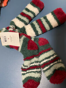 Life is Good Over The Knee Striped Holiday What Fun it is to Snuggle Socks