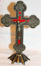 "Orthodox Church Table Wall Metal Cross Jesus Christ Crucifix 8"""