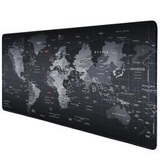 Large Gaming Mouse Pad World Map Anti-slip Keyboard Mat Laptop Desk Mat 80*30cm