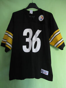 Maillot Football Americain Pittsburgh Steelers Logo 7 Jersey #36 Bettis - L