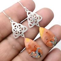 Maligano Jasper - Indonesia 925 Sterling Silver Earrings Jewelry AE22416