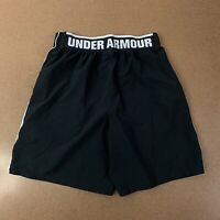 Under Armour Mens Size Medium Black Athletic Shorts Spell Out Waistband