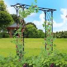 Steel Pergola Archway Trellis Wedding Rose Arch Climbing Arbors Support Garden