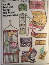 Simplicity Pattern 7735 TRAVEL ACCESSORIES Jewelry Case Lingerie Bag Sewing Kit