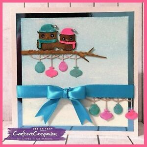 """WINTER OWLS Crafter's Companion Die """"Cute Xmas Collection"""" rrp £10 Discontinued"""