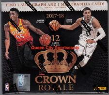 2017/18 Panini Crown Royale Basketball Factory Sealed Hobby Box