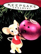 HALLMARK Keepsake 1996 BOWL EM OVER Bowling Mouse CHRISTMAS ORNAMENT Vintage NEW