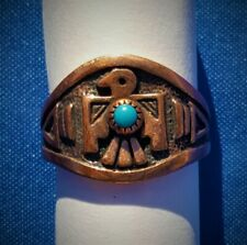 Hand Crafted Copper Ring~Native American Thunderbird w/s ~Copper Healing Effect