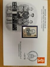 Churchill cover  1989  with Jersey  stamp stamp.Attractive