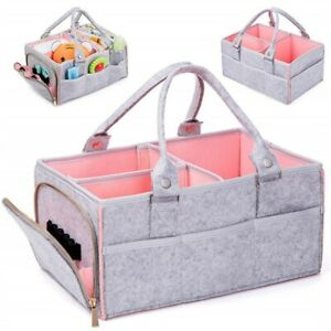 Baby Diaper Caddy Organizer Portable Holder Bag Nappy Basket for Changing Table