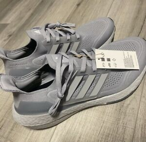 ADIDAS ultraboost 21 men Size 12 BRAND NEW NEVER WORN FY0432 HALO SILVER / GRAY