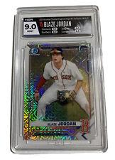 Blaze Jordan Red Sox 2021 Bowman Chrome Mega Box Mojo Refractor HGA 9 mint
