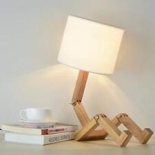 Kreative Roboter Schreibtischlampe Verstellbare Bücher setzen Holz Dekorative