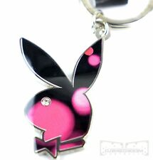 PLAYBOY BUNNY Diamante KEY RING - Car House Momento Charm