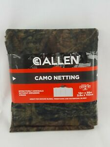 Allen Camo Netting 12ft. x 56in  #24671A camouflage blind hunting duck deer (G8)