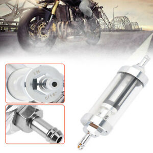 """8mm 5/16""""Gas Fuel Filter Oil Clear Scooter Modification Glass For ATV Motorcycle"""