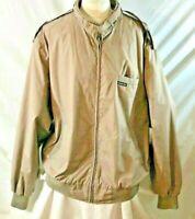 Vintage Members Only Mens Size 3XT Tall Wind Breaker zip up Jacket 1980's Beige