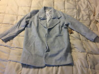 NEW WOMENS COTTON CANDY LIGHT GRAY STONE OVERCOAT JACKET COAT SIZE LARGE