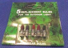 2 X PACKS OF 5 FAIRY LIGHT SPARE COLOURED BULBS - 2.4V - 0.08W (ref.28)