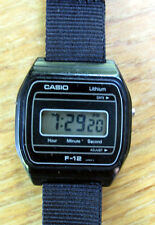 Vintage c1982 Casio F-12  LCD Quartz Men's Watch Made in Japan- Runs Well