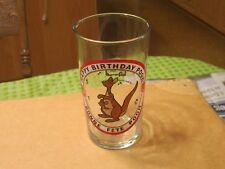 1960s HAPPY BIRTHDAY POOH WDP WALT DISNEY PRODUCTIONS SEARS CARTOON PROMO GLASS