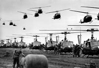 """U.S. Army Helicopters fly Troops to staging area 13""""x 19"""" Vietnam War Poster 56"""