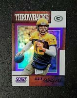 2019 Score Football Aaron Rodgers Throwbacks PURPLE SP Green Bay Packers T-3