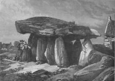 CARNAC STONES. Druidic remains of Brittany; The Great Dolmen of Corconne, 1871