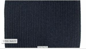 Solid Navy Blue 100% Wool New England Country Home Quality Braided Rug