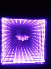 Infinity Mirror color changing LEDs with 44 key  remote with BAT LOGO