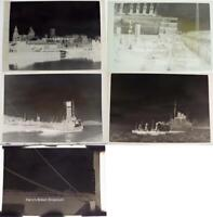 Liverpool Docks Five Vintage 1930's Black and White Photo Negatives (d)