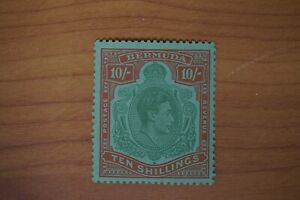 Bermuda #126a 1938 KGVI 10/ perf 14 VF mint NH cv$140.00 for hinged (v162)