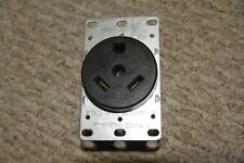 Cooper Wiring RV Travel Trailer Receptacle Outlet 30A 125V Black NEW 10 AWG